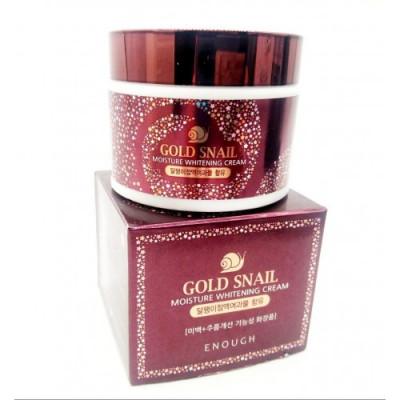 Крем с муцином улитки и золотом Enough Gold Snail Moisture Whitening Cream 50мл: фото