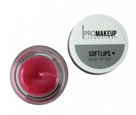 Скраб для губ PROMAKEUP laboratory SOFT LIPS клубника 6г: фото