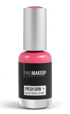 Эмульсионные румяна PROMAKEUP laboratory FRESH SKIN liquid blush drops 02 peach 8,5мл: фото