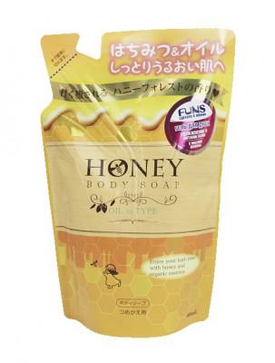 Гель для душа с экстрактом меда и маслом жожоба FUNS Honey Oil 400 мл: фото