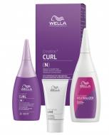 Набор для окрашенных и чувствительных волос WELLA PROFESSIONALS Creatine+ Curl: лосьон 75мл + фиксатор 100мл + уход 30мл: фото