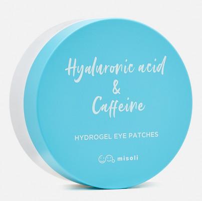 Гидрогелевые патчи для области вокруг глаз Гиалуроновая кислота и кофеин Misoli Hyaluronic acid & Caffeine Hydrogel Eye Patches 1,4г*60шт: фото